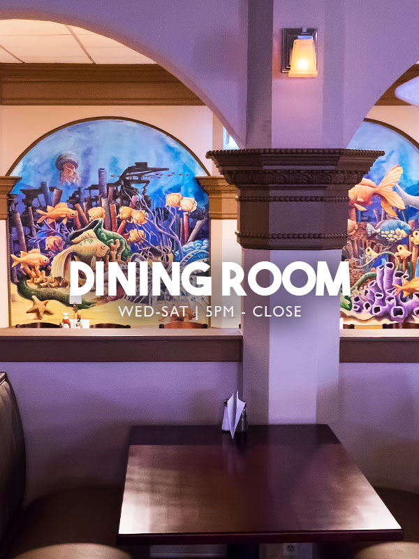 Casual Dining Room - Boomerang Bar & Grill - Steaks - Pasta - Burgers - Wings - Liquor - Beer